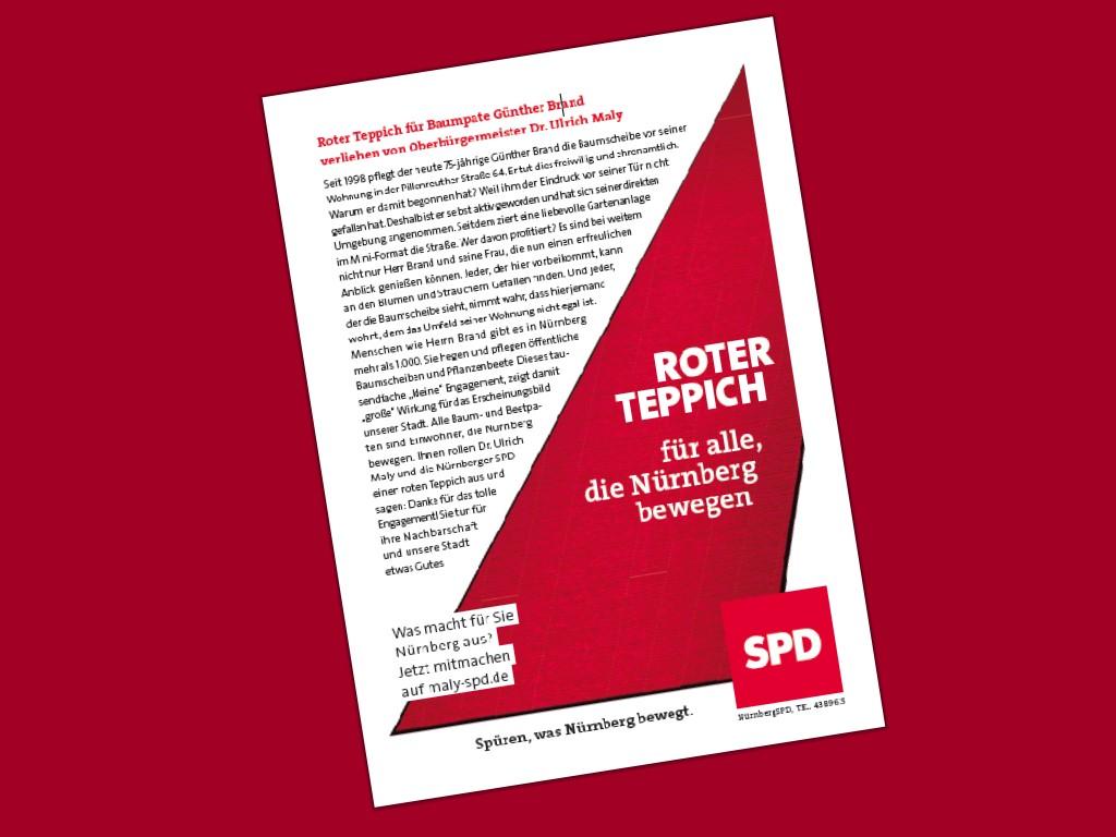Roter Teppich für Baumpate Günther Brand – SPD Nürnberg
